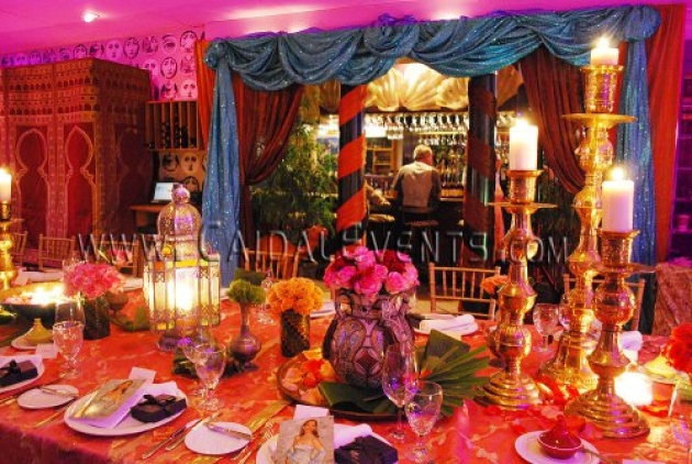 Moroccan theme centerpieces ideas for social private or for Arabian party decoration ideas