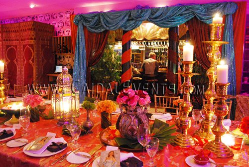 Moroccan theme centerpieces ideas for social private or for Arabian nights decoration
